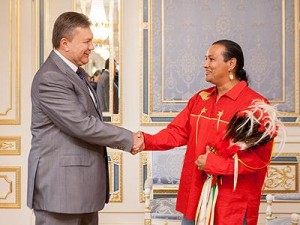 President of Ukraine and the Chief of Sioux Nation