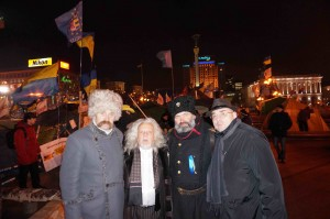Morgulis, KAZAK's and Rev Mark Bazalev, Maidan
